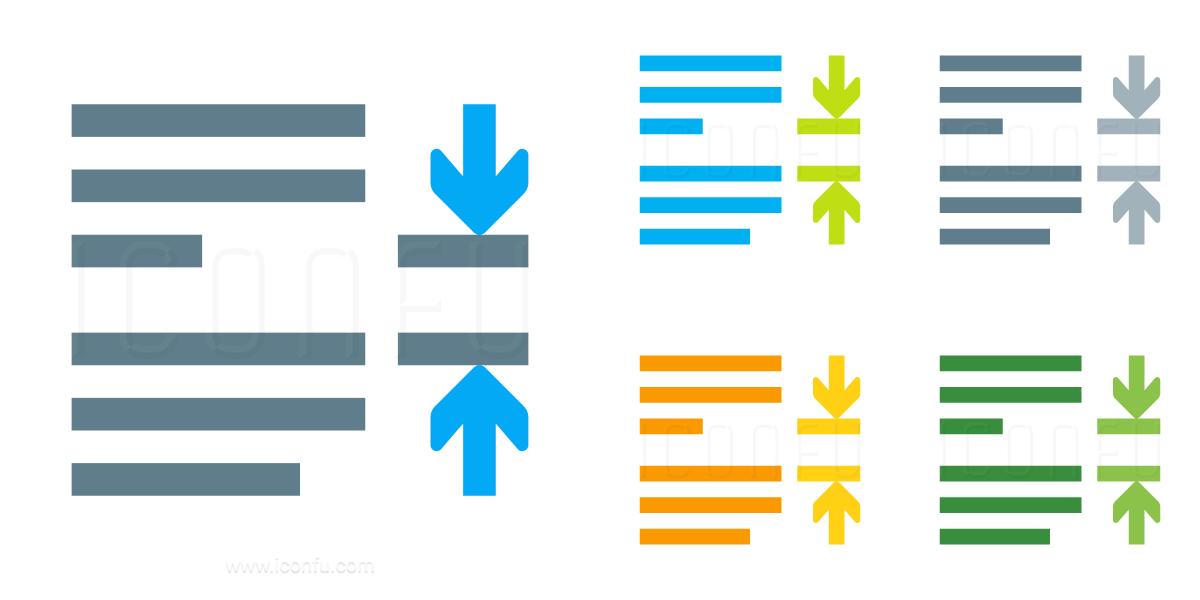 Line Spacing Paragraph Icon