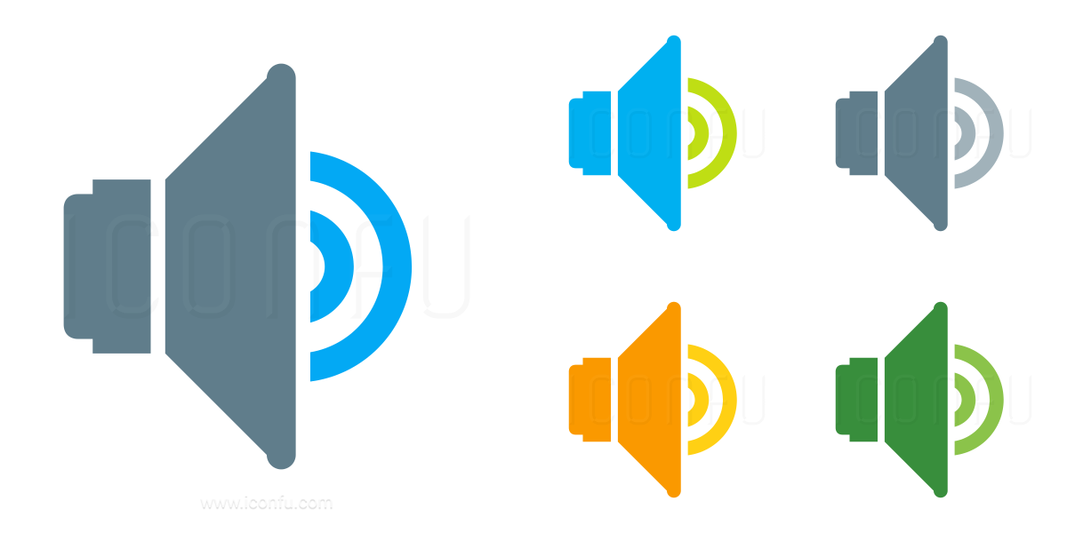 Loudspeaker Volume Three Icon