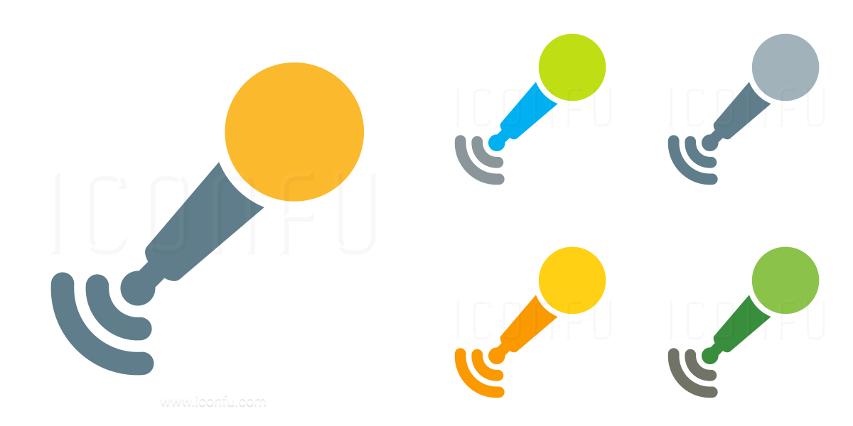 Microphone Cordless Icon