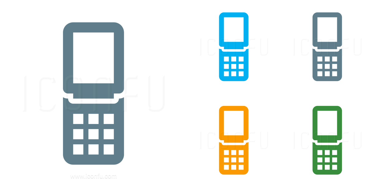 Mobile Phone Folding Icon