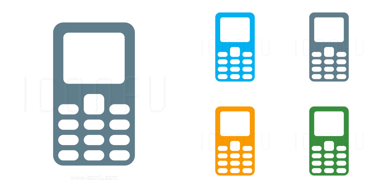 Mobile Phone Keys Icon