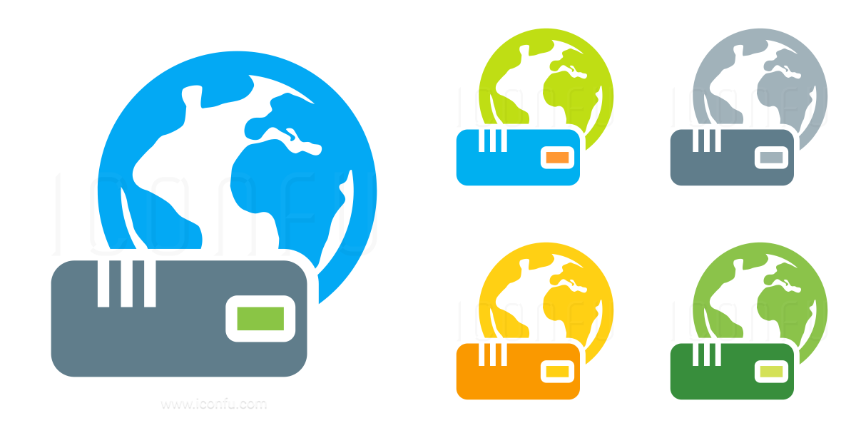 Modem Earth Icon