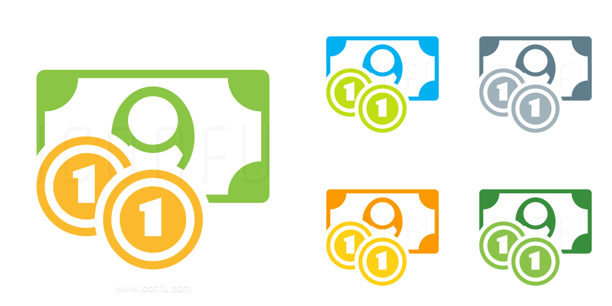 Money Bill Coins Icon