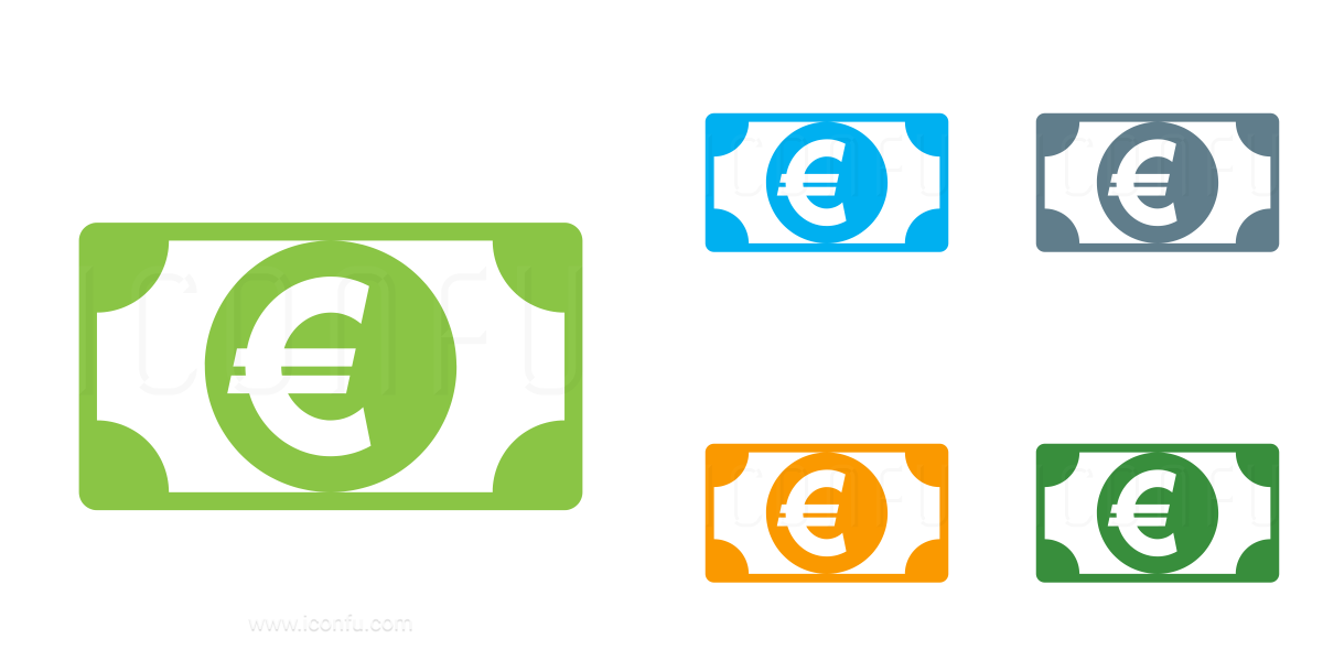 Money Bill Euro Icon