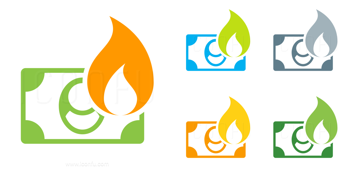 Money Bill Fire Icon