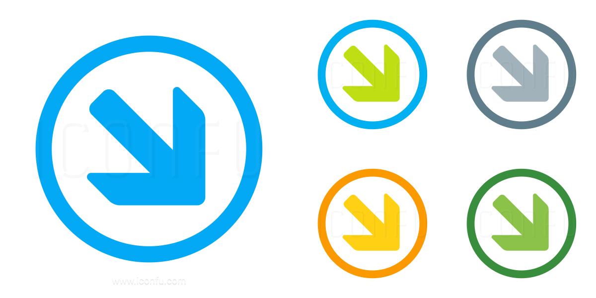 Nav Down Right Icon