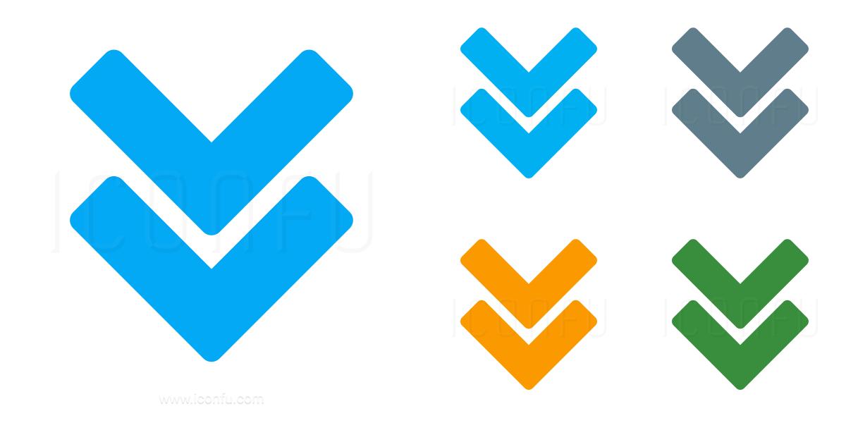 Navigate Down Two Icon