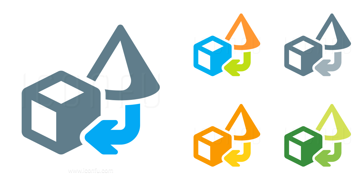 Objects Cone To Cube Icon