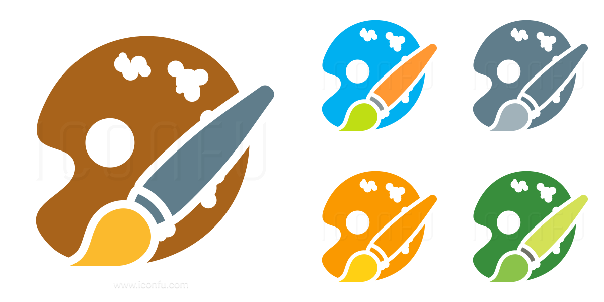 Painters Palette Brush Icon