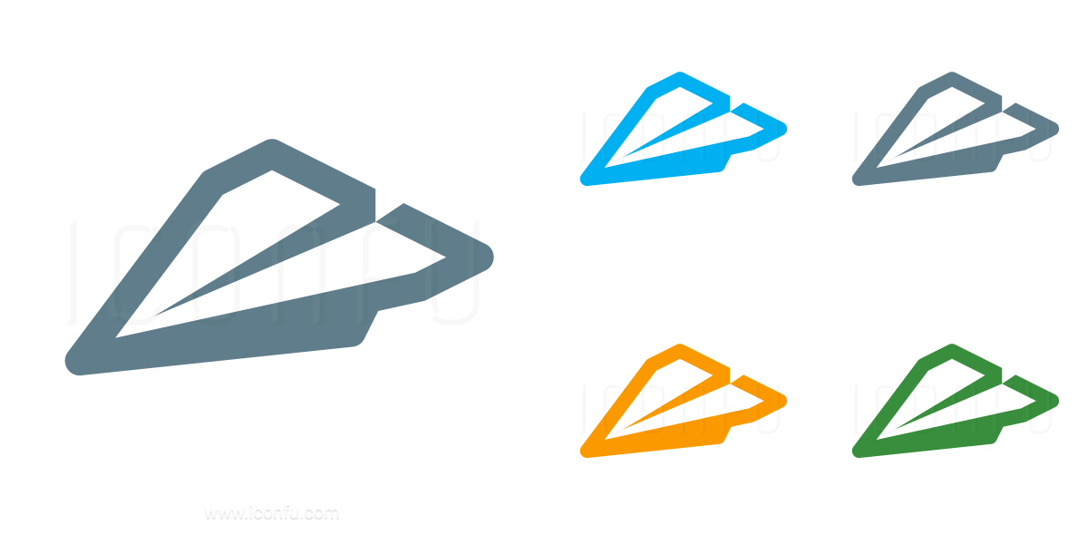Paper Jet Incoming Icon