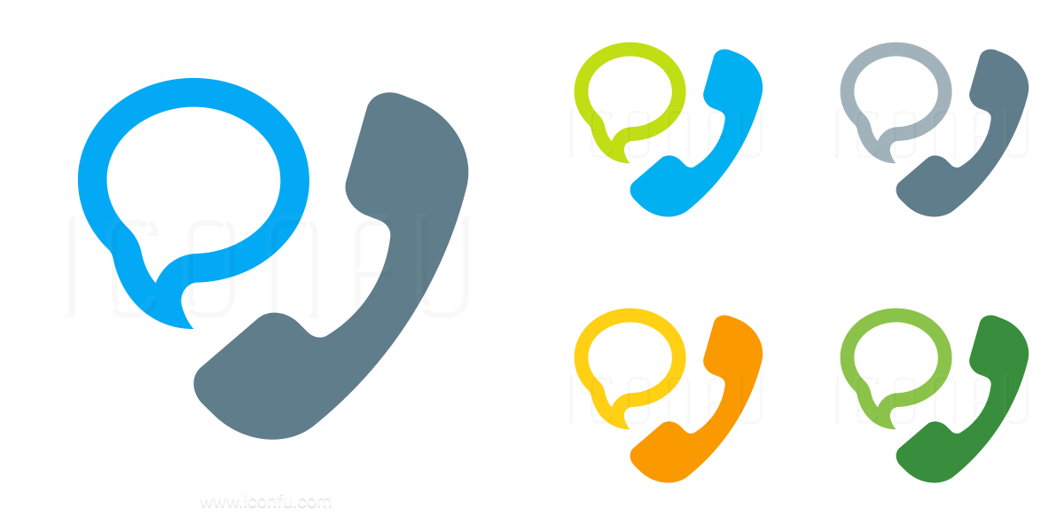 Phone Speech Bubble Icon