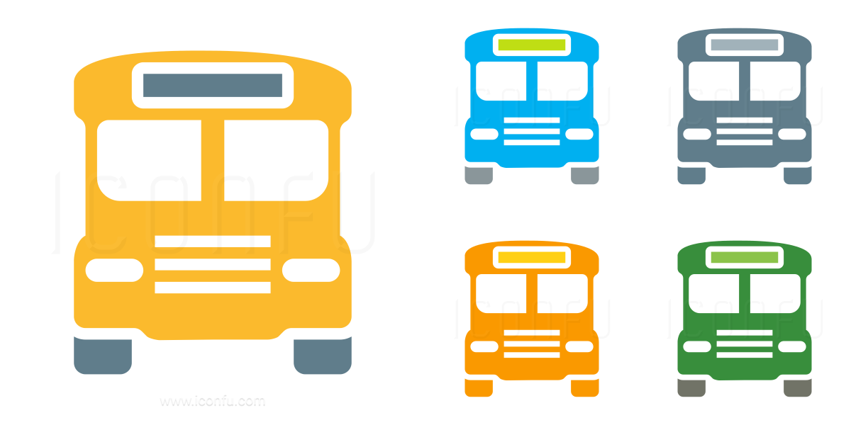 Schoolbus Front Icon