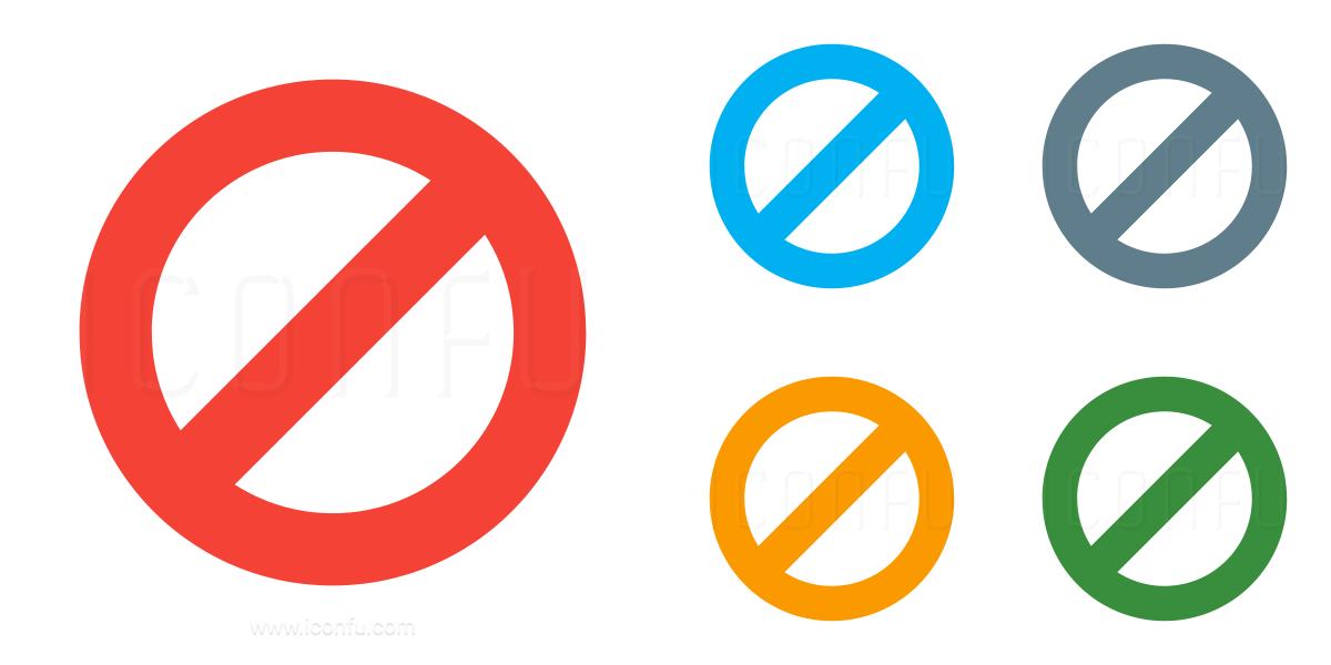 Sign Forbidden Icon