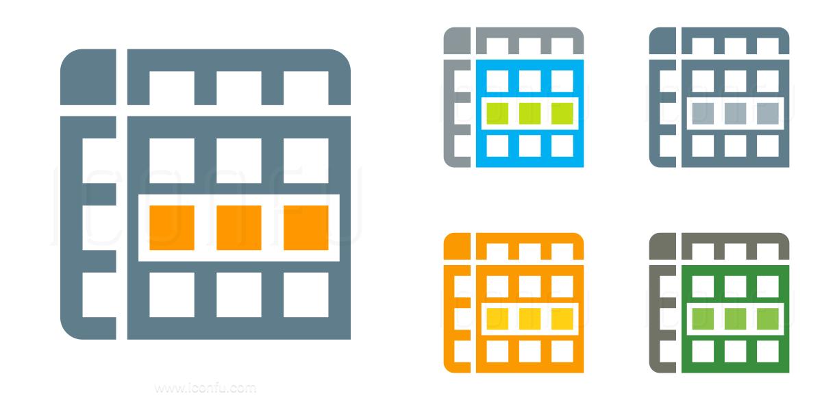 Spreadsheet Row Icon