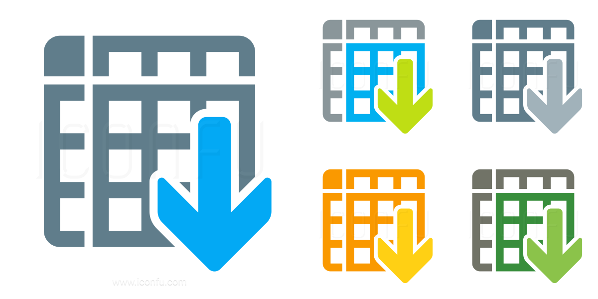 Spreadsheet Sort Ascending Icon
