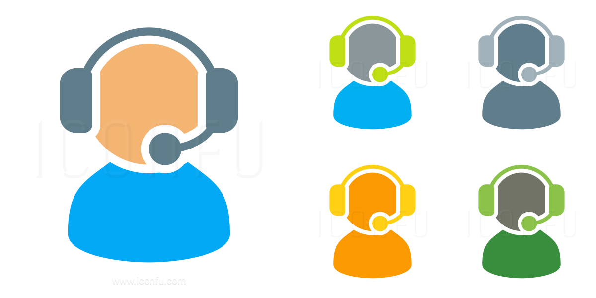 User Headset Icon Omni Style Iconfu