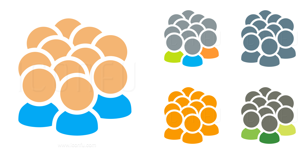 Users Crowd Icon