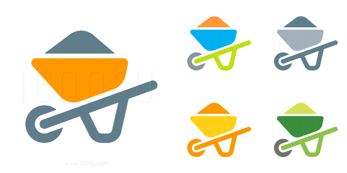 Wheelbarrow Full Icon