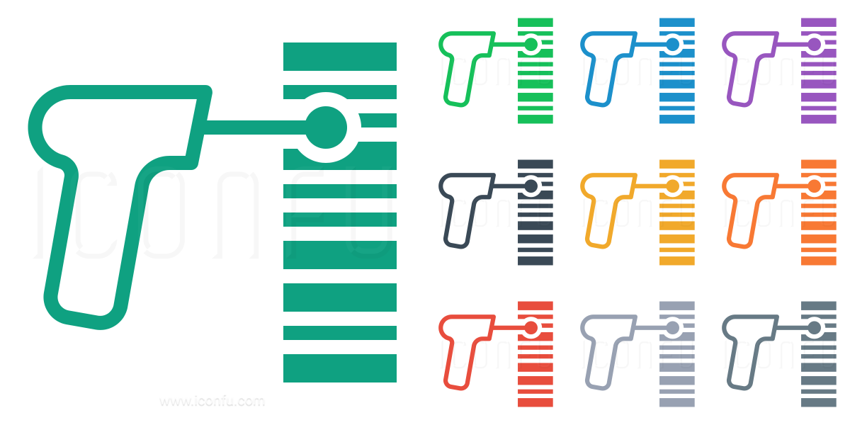 Barcode Scanner Icon Line Collection Style