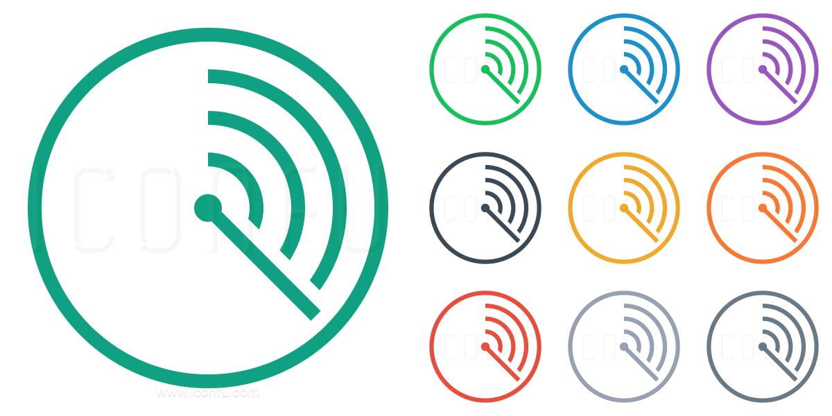 Radar Icon Line Style Iconfu