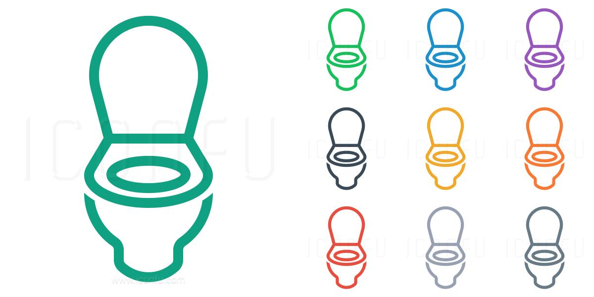 Toilet Icon Line Style Iconfu
